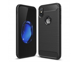 Husa FORCELL Carbon Pro Black Anti-shock iPhone X,iPhone 10
