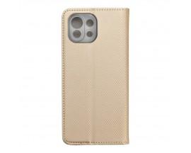 Husa Flip Carte Upzz Smart Compatibila Cu Xiaomi Mi 11 Lite / Mi 11 Lite 5G, Gold