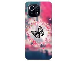Husa Silicon Soft Upzz Print Compatibila Cu Xiaomi Mi 11 Lite / 11 Lite 5G Model Butterfly