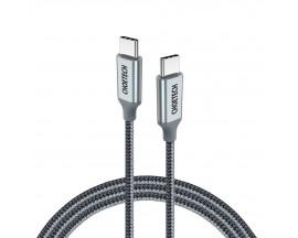 Cablu Date Incarcare Choetech Usb-C La Usb-C, Power Delivery 480 Mbps, 100 W, 5A, 1.8M, Gry
