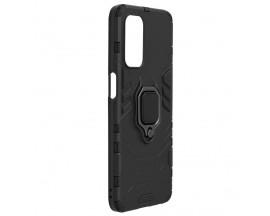 Husa Spate Upzz Techsuit Shield Cu Inel Metalic Compatibila Cu Oppo A54 5G / A74 5G, Negru