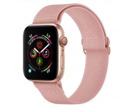 Curea Upzz Tech Mellow Compatibila Cu Apple Watch 4 / 5 / 6 / 7 / SE (38 / 40 / 41 MM), Roz