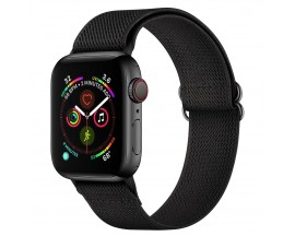 Curea Upzz Tech Mellow Compatibila Cu Apple Watch 4 / 5 / 6 / 7 / SE (42 / 44 / 45 MM), Negru