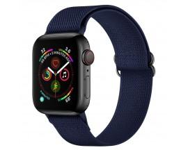 Curea Upzz Tech Mellow Compatibila Cu Apple Watch 4 / 5 / 6 / 7 / SE (42 / 44 / 45 MM), Albastru Navy