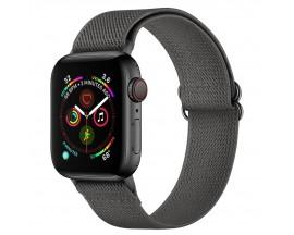 Curea Upzz Tech Mellow Compatibila Cu Apple Watch 4 / 5 / 6 / 7 / SE (42 / 44 / 45 MM), Gri