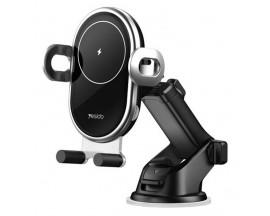 Suport Auto Yesido Cu Incarcare Wireless 10W, C102, Negru