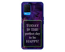 Husa Premium Spate Upzz Pro Anti Shock Compatibila Cu Oppo A54, Model Perfect Day, Rama Albastra