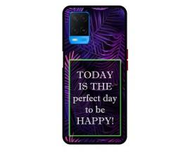 Husa Premium Spate Upzz Pro Anti Shock Compatibila Cu Oppo A54, Model Perfect Day, Rama Neagra