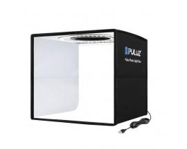 Mini studio portabil Lightbox PU5025B PULUZ, LED-uri incorporate, fotografie/mini-filmulete de produs, 25x25cm, Negru