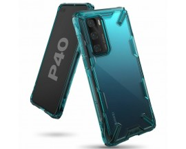 Husa Premium Ringke Fusion X  Pentru Huawei P40 , Transparenta Verde