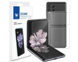 Folie Silicon Whitestone Premium Compatibila Cu Samsung Galaxy Z Flip 3, Fata si Spate