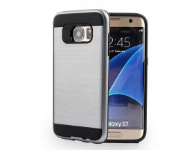 Husa Anti-Shock Pro Plus Samsung S7 Edge Silver