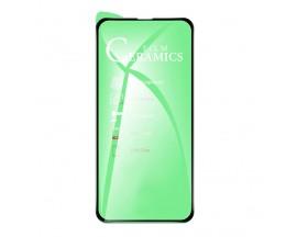 Folie Protectie Ecran Hybrid Upzz Ceramic Full Glue Pentru iPhone 13 Pro, Transparenta Cu Margine Neagra