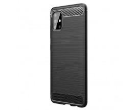 Husa Spate Upzz Carbon Pro Compatibila Cu Samsung Galaxy M31s, Negru