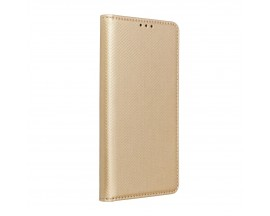 Husa Flip Carte Upzz Smart Case Compatibla Cu Oppo Reno 5 Lite, Gold