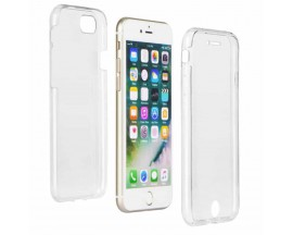 Husa 360 Grade Full Cover Silicon iPhone 7/iphone 8 Transparenta