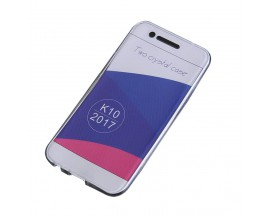 Husa 360 Grade Full Cover Silicon LG K10 2017 Transparenta