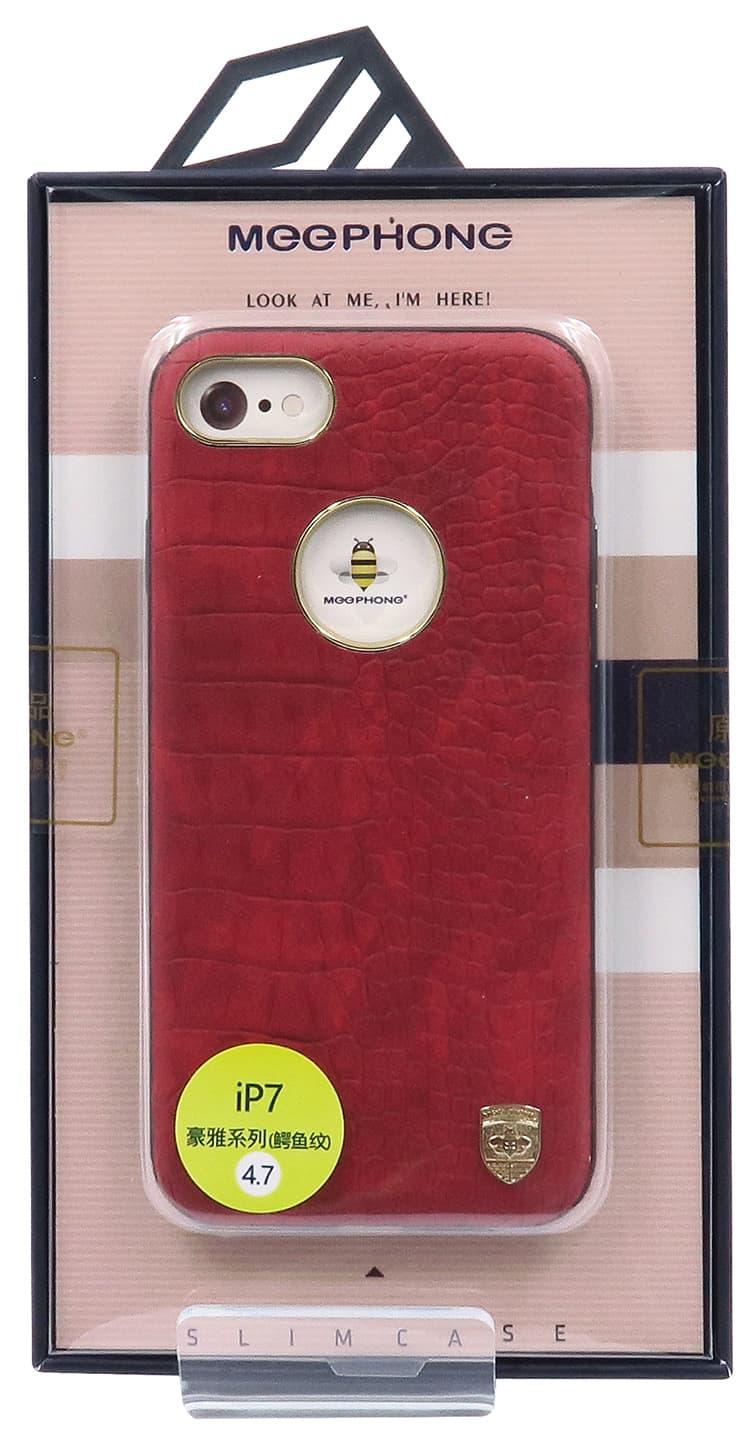 Husa Meephone Piele Croco iPhone 7 gold
